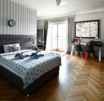 AA HOUSE EMIRGAN: mediterranean Nursery/kid's room by Esra Kazmirci Mimarlik