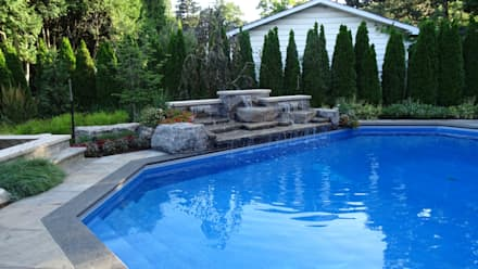 Burlington Residence: modern Pool by Lex Parker Design Consultants Ltd.
