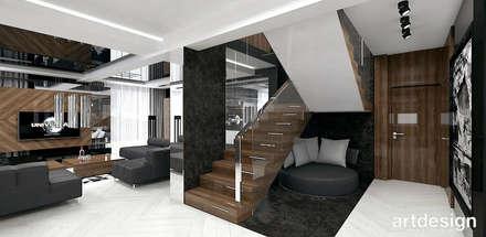 projekt schodów: styl , w kategorii Korytarz, przedpokój i schody zaprojektowany przez ARTDESIGN architektura wnętrz