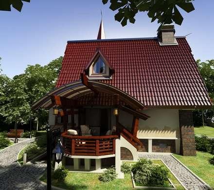 Терраса для дома в стиле шале: Tерраса в . Автор – Студия интерьера Дениса Серова