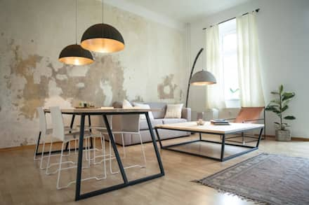 Cristel Couchtisch: skandinavische Wohnzimmer von woodboom
