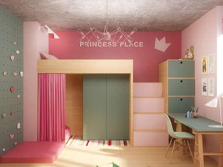 Dormitorios infantiles de estilo  por Надежда  Шульга