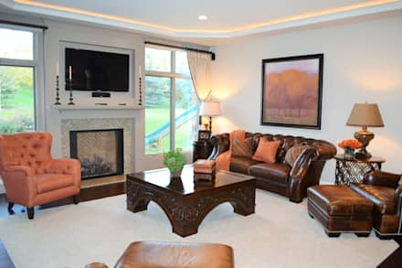 Eclectic family room: eclectic Living room by Foran Interior Design