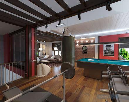 Дизайн-проект дома в стиле прованс площадью 300 кв.м: Медиа комнаты в . Автор – Студия интерьера Дениса Серова