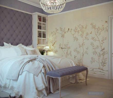 Дизайн-проект дома в стиле прованс площадью 300 кв.м: Спальни в . Автор - Студия интерьера Дениса Серова