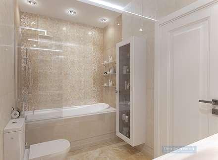 Дизайн проект 3 этажного коттеджа300 кв м: Ванные комнаты в . Автор – Студия интерьера Дениса Серова