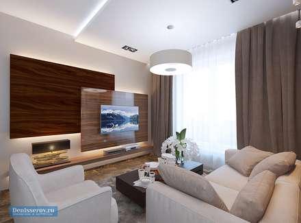 Дизайн-проект частной дачи площадью 150 кв м: Гостиная в . Автор – Студия интерьера Дениса Серова