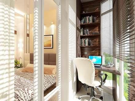 Дизайн-проект квартиры в стиле минимализм: Tерраса в . Автор – Студия интерьера Дениса Серова