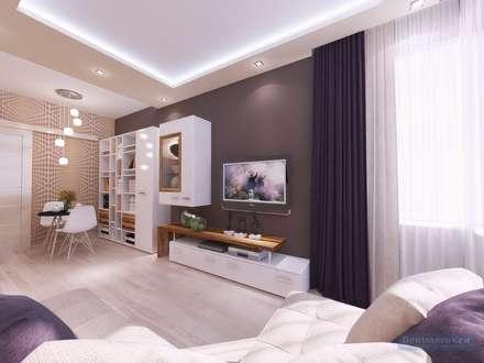Дизайн гостиной 15 кв м: Гостиная в . Автор – Студия интерьера Дениса Серова