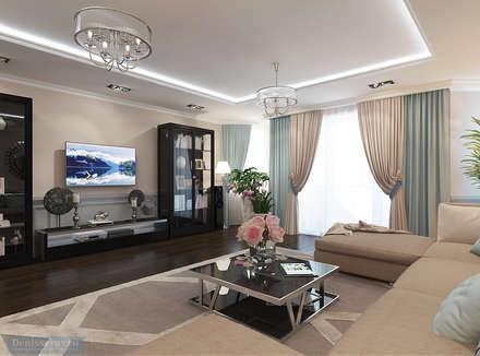 Дизайн-проект 4-х комнатной квартиры 180 кв м : Гостиная в . Автор – Студия интерьера Дениса Серова