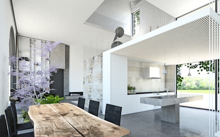 Casale D: Cucina in stile in stile Mediterraneo di DFG Architetti