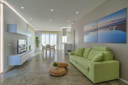 Villa GD: Soggiorno in stile in stile Moderno di DFG Architetti