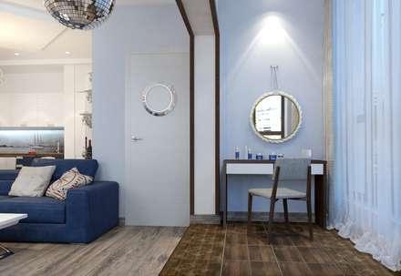 1к.кв. в ЖК Калипсо (55 кв.м.): Коридор и прихожая в . Автор – ДизайнМастер
