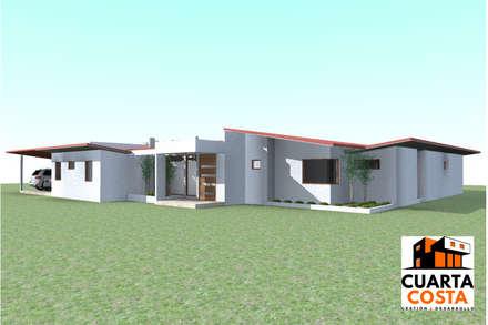 Vivienda 212 m2: Casas de estilo clásico por Cuarta Costa