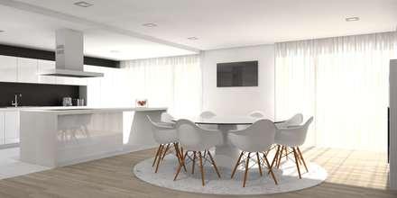 Moradia - Vila Verde: Cozinhas modernas por Equevo - Interiores Design