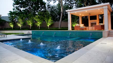 Entertaining Garden - Transitional Landscape Design: eclectic Pool by Matthew Murrey Design