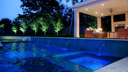 Entertaining Garden - Transitional Landscape Design: eclectic Spa by Matthew Murrey Design