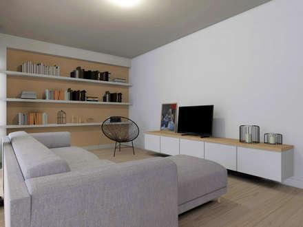 Casa da Paula: Salas de estar escandinavas por Homestories