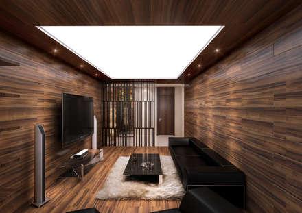 modern Media room by 보운디자인