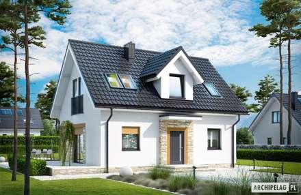 Projekt Witek - mały dom, wielkie wrażenie!: styl nowoczesne, w kategorii Domy zaprojektowany przez Pracownia Projektowa ARCHIPELAG