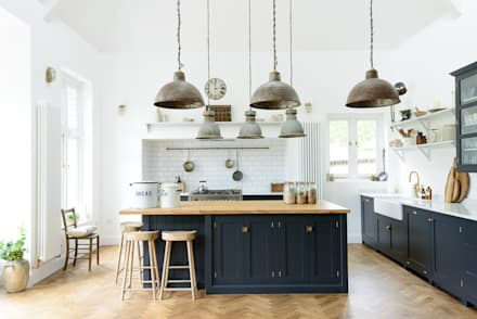 The Arts and Crafts Kent Kitchen by deVOL: industrial Kitchen by deVOL Kitchens