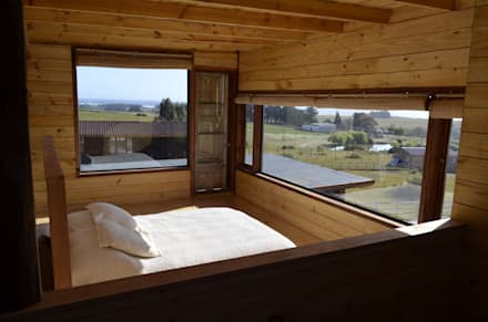 CASA AF: Dormitorios de estilo rústico por BLAC arquitectos