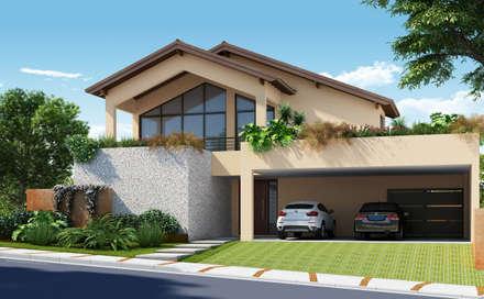 منازل تنفيذ Santos e Delgado Arquitetura e Construções