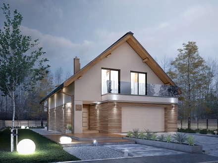 Wizualizacja projektu domu Amarylis 5: styl nowoczesne, w kategorii Domy zaprojektowany przez Biuro Projektów MTM Styl - domywstylu.pl
