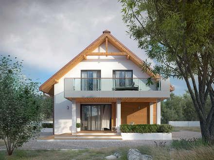 Wizualizacja projektu domu Amarylis 6: styl nowoczesne, w kategorii Domy zaprojektowany przez BIURO PROJEKTOWE MTM STYL