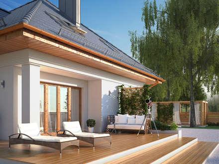 Wizualizacja projektu domu Wilga 4: styl nowoczesne, w kategorii Domy zaprojektowany przez BIURO PROJEKTOWE MTM STYL