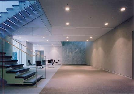 VITEC: Mアーキテクツ 高級邸宅 豪邸 注文住宅 別荘建築 LUXURY HOUSES   M-architectsが手掛けた玄関・廊下・階段です。