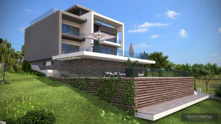 Moradia Unifamiliar - Famões - Odivelas: Habitações  por Traço Criativo, Arquitetura, Planeamento e Design, Lda