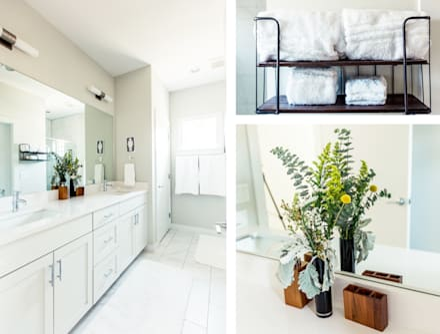 Urban Retreat: modern Bathroom by Brett Nicole Interiors