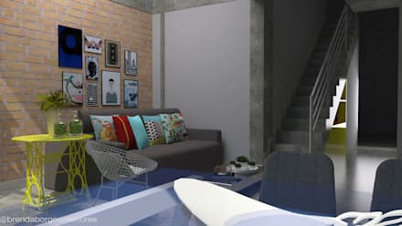: industrial Living room by Brenda Borges