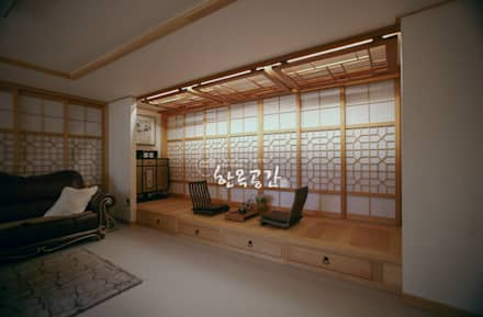 asian Living room by 한옥공간