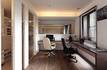 modern Study/office by 明樓設計 ─ ML Design