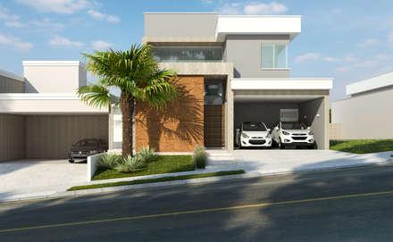 Residência A&F: Casas modernas por Daniele Galante Arquitetura