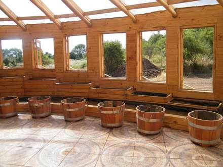 Casa Sol en Rari: Jardines de invierno de estilo rústico por Secrea