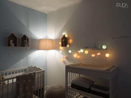 scandinavian Nursery/kid's room by MUDA Home Design