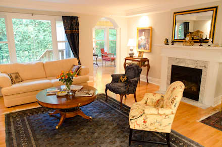 Rockcliffe Renovations: colonial Living room by Jane Thompson Architect