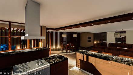 CASA JONES - PROYECTO: Cocinas de estilo moderno por FRANCO CACERES / Arquitectos & Asociados