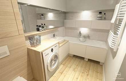 Metamorfoza łazienki - Gdańsk, ul. Myśliwska: styl , w kategorii Łazienka zaprojektowany przez Pracownia Projektowa MOJE