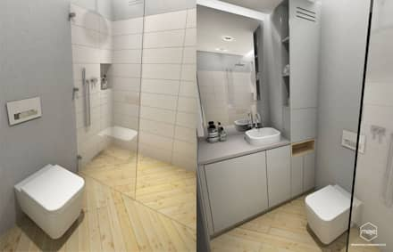 Męska łazienka - Gdańsk Południe: styl , w kategorii Łazienka zaprojektowany przez Pracownia Projektowa MOJE