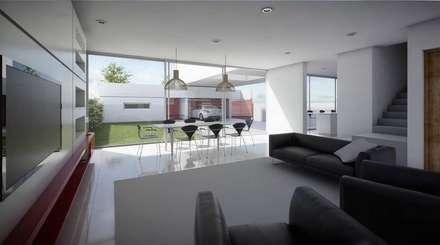 casa A: Livings de estilo moderno por ARQUITECTO MAURICIO PIZOLATTO