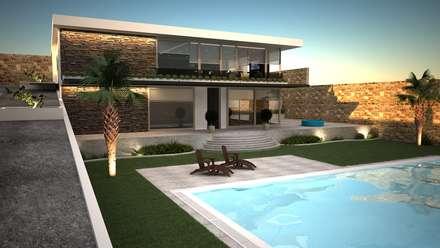 DO DESIGN – URLA BÖLGESİ VİLLA TASARIMI : modern tarz Evler