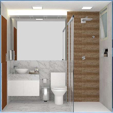 : modern Bathroom by Brenda Borges