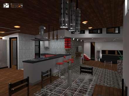 CASA CINTA : Comedores de estilo moderno por GerSS Arquitectos