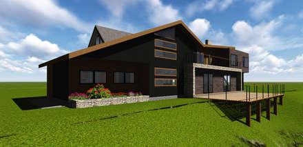 VIVIENDA UNIFAMILIAR DE NIEBLA - VALDIVIA: Casas de estilo moderno por GerSS Arquitectos