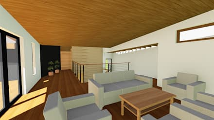 VIVIENDA UNIFAMILIAR DE NIEBLA - VALDIVIA: Estudios y biblioteca de estilo  por GerSS Arquitectos