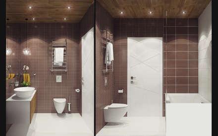 Small studio for young man in Krasnogorsk city: modern Bathroom by Ksenia Konovalova Design
